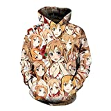 Charous Anime Sword Art Online Sao Cosplay Party Costume Sudadera con Capucha para Mujeres Hombres