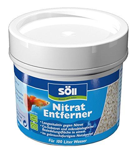 Söll 11818 NitratEntferner 60 g für 100 Liter Wasser - Natürliche Nitratreduktion im Aquarium gegen Algenwachstum und Krankheitsanfälligkeit aller Aquarienbewohner