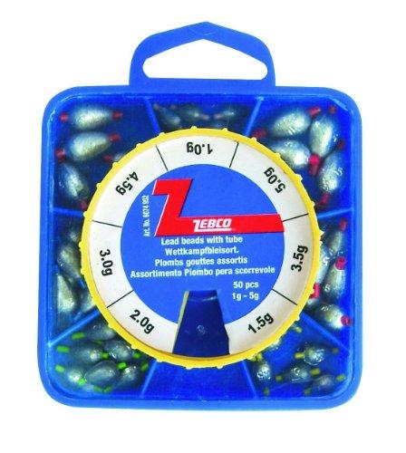 Zebco Tropfenblei mit Schlauch, antrazzit, 1,0-5,0 g