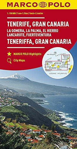 MARCO POLO Karte Teneriffa, Gran Canaria 1:150 000: La Gomera, La Palma, El Hierro, Lanzarote, Fuerteventura (MARCO POLO Karten 1:200.000)