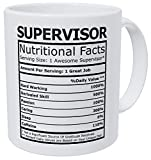 Wampumtuk Supervisor Nutritional Facts Funny Coffee Mug 11 Ounces Inspirational And Motivational
