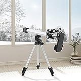 S SMAUTOP Telescopio para astronomía, 24x a 300x Telescopio astronómico Profesional de Viaje con un trípode Ajustable/Starfinder y Soporte para teléfono, Adecuado para niños y Adultos