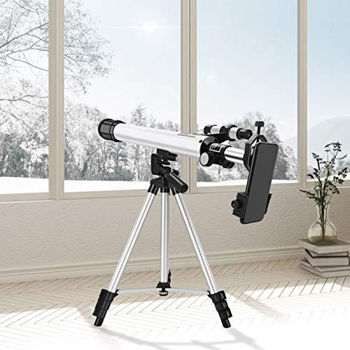 S SMAUTOP Télescope pour l'astronomie, télescope de Voyage astronomique Professionnel 24x à 300x avec Un trépied/starfinder réglable et Un Support de téléphone, adapté aux Enfants et aux Adultes