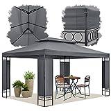 ArtLife Gartenzelt Capri 3 x 4 m in grau – Outdoor Pavillon wasserabweisend und faltbar – für Garten Feste und Feiern – aus stabilem Metall und Polyester