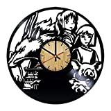 ForLovedGifts Spirited Away Design Vinyl Wall Clock – Handmade Gift for Any Occasion – Unique Birthday, Wedding, Anniversary, Wall décor Ideas for Any Space