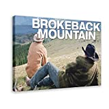Heath Ledger Brokeback Mountain Movie Poster 5 Canvas Poster Wall Art Decor Print Picture Paintings for Living Room Bedroom Decoration 16×24inch(40×60cm) Frame-style1