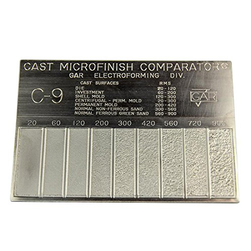Gar Surface Roughness Scale C-9 Cast Mocrofinish Surface Comparator