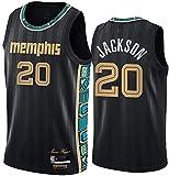 Ropa Jersey de baloncesto para hombres, Memphis Grizzlies # 20 Josh Jackson Nba Casual Chaleco transpirable y de secado rápido Camiseta sin mangas Uniforme de baloncesto superior, negro, L (175 ~ 180c