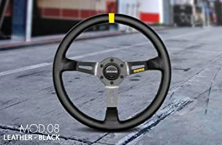 MOMO R1908_35L Mod 08 350 mm Leather Steering Wheel