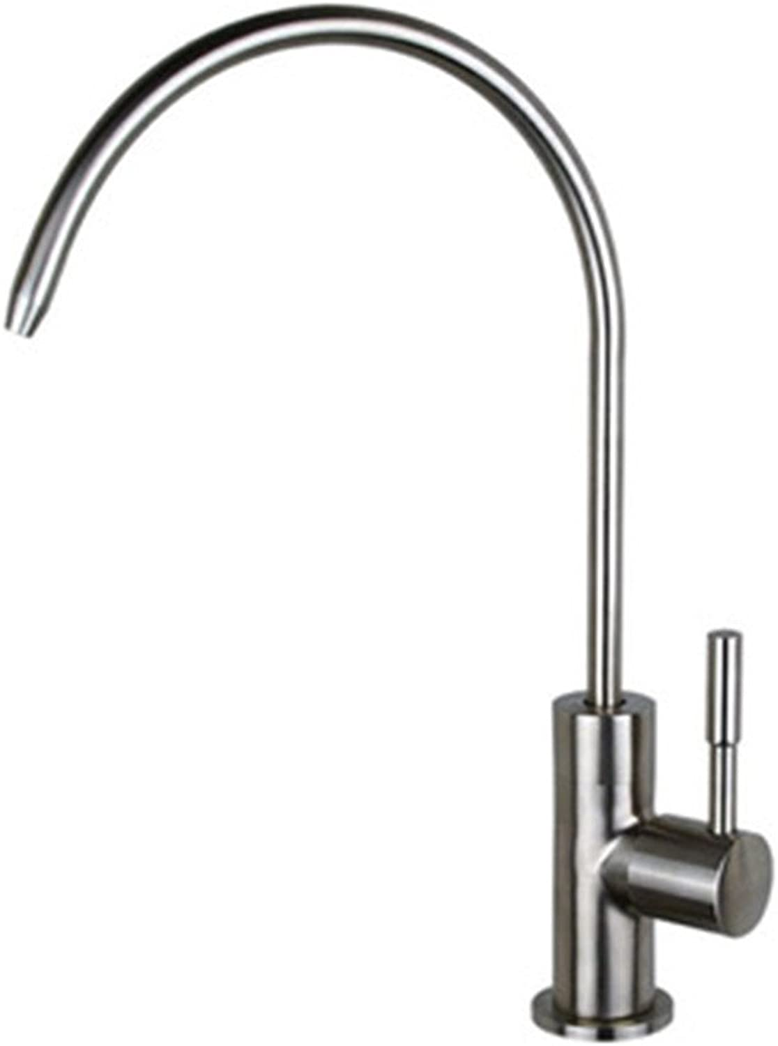 Bijjaladeva Antique Bathroom Sink All-copper 304 stainless steel water faucet 2 points 4 points universal kitchen single cold lead-free water purifier home straight drink