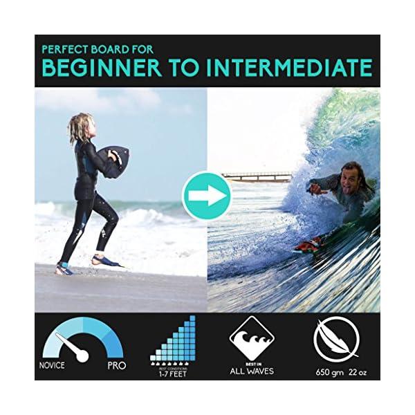 Slyde cuña Cuerpo Surfing handboard/Handplane con cámara integrada, Correa Enchufe de sujeción y Ajustable Correa 2