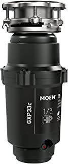 Moen GXP33C GX PRO Series 1/3 HP Continuous Feed Garbage Disposal, Power Cord Included