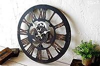 壁掛け時計 Cogwheel Roman アンティーク調 壁掛時計 歯車105