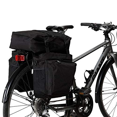 NoLogo Bolsa de Cuadro de Bicicleta 3 En 1 Montaña Camino de la Bicicleta de la Bici del Tronco Bolsas de Ciclismo Lateral Doble Parrilla de Asiento Cola Pannier Bolsa para MTB al Aire Libre