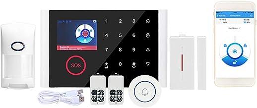 OWSOO Sistema de Alarma 433MHz, WiFi + gsm + GPRS 3 En 1, Pantalla Táctil LCD a Color de 2.4 Pulgadas, Control Remoto de Phone, Notificación de Alarma, Anti-Mascota, Función de Phone, Un Botón de SOS