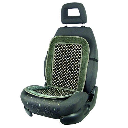 Carpoint 0323219 Holzkugel-Sitzauflage 'Deluxe', schwarz / grau