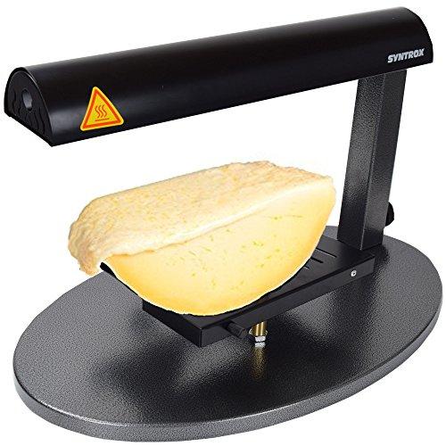 Syntrox Germany XXL Käse Raclette für 1/4 Stücke leckersten Schweizer und Alpenzeller Käse Grill Raclettegrill