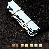 TESS Tape Extensions Echthaar Schwarz #1 Klebeband Haarteile Tape in Haarverlängerung Remy Human Hair Glatt 10 Stück 20'(50cm)-25g
