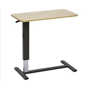 大商産業 ベッド用昇降テーブル LW-80 ライトブラウン (幅80×奥行40×高さ65~95cm) キャスター付
