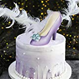 3D Chocolate High Heels Shoe Mold Set, High Heel Chocolate Fondant Mold Cake Candy Mold Plastic Paste Fondant Candy Mould for Cake Topper Decorating large