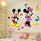 RoomMates Mickey Mouse Minnie Vinyl Mural Wall Sticker Decals Room Decor