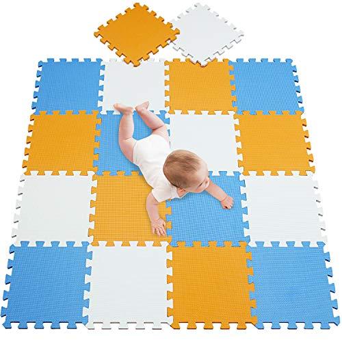 meiqicool Alfombra Puzzle para Niños Bebe Infantil, esteras de 30x30 cm, 18 Piezas en Espuma EVA 010207