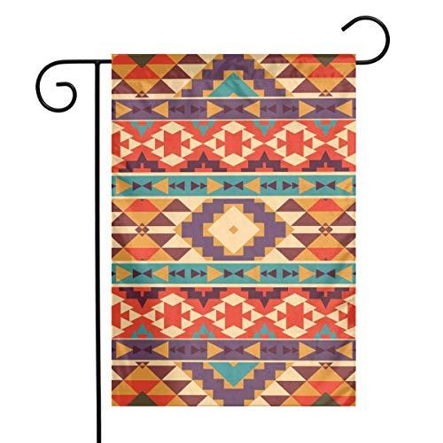 HDKO Aztec Pattern Garden Flag Decoration Banner Decorative Sweet Home Yard Festival Outdoor 12X18inch