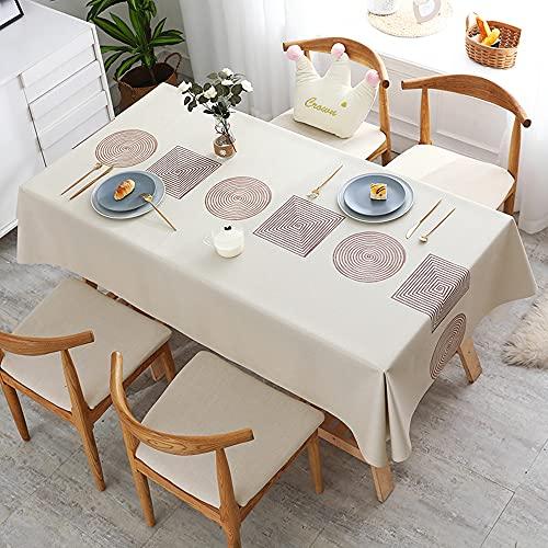 HautStore Mantel Rectangular Impermeable Antimanchas, PVC Prueba de Aceite Manteles Cuadradopara Cocina Mantel Impermeable para Mesa Cafetería Bodas Fiesta Buffet Navidad Cumpleaños Restaurante