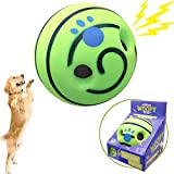 Giggle Ball Interactive Dog Toy Upgrading Material Ball Pet Training Playing Safe with Fun Giggle Sounds Talking Wobble Giggle Babble Ball for Puppies Small Medium Large Dogs Green Gift