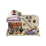 WDSFT A Mano de Madera casa de muñecas en Miniatura Kits Set de Juego for niños y Adultos Regalos de cumpleaños de Navidad