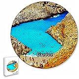 Grecia Seitán Limania Beach Rompecabezas de 195 Piezas con Forma Redonda de Animales de Madera para niños y Adultos, Recuerdos de 16.5 × 16.5 Pulgadas