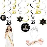 Juego de accesorios de decoración para el décimo octavo cumpleaños,...