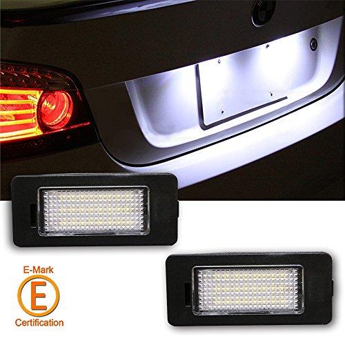 Rolling Gears 7500 K Ultra Blanc LED kit d'éclairage de plaque d'immatriculation