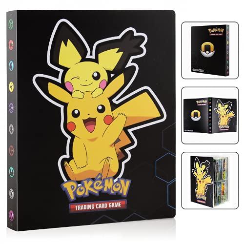 Porta Carte Pokemon, Pokemon Carte Album, Raccoglitore Carte Pokémon, Figurina Carte Album, Album di Carte Collezionabili Pokémon, Album per Carte Pokemon GX, Album Pokemon Cards GX EX Trainer