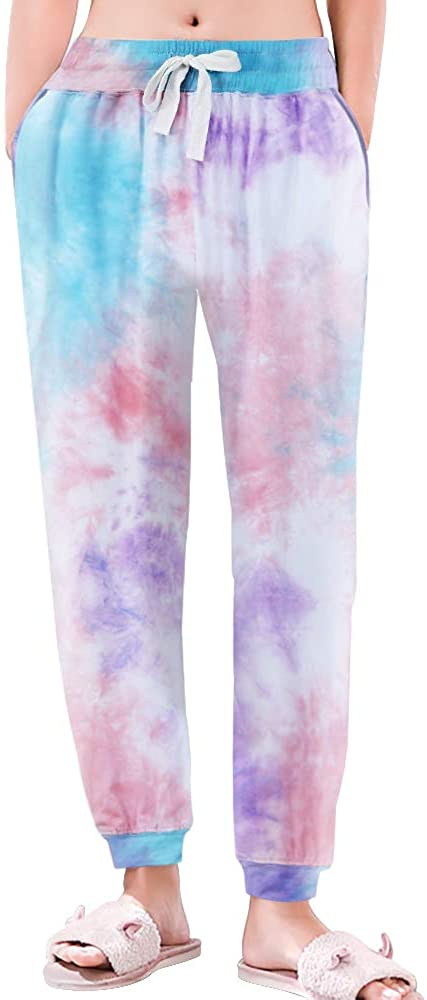 HEARTNICE Pajama Pants for Women Cotton, Soft Tie Dye Pj Bottom Lightweight Sweatpants Sleepwear at  Women's Clothing store