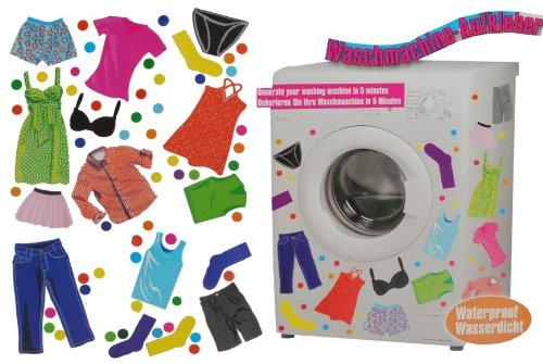 alles-meine.de GmbH Aufkleber z.B. für Maschmaschine wasserfest - 70 Bekleidung Punkte - Sticker Tattoo Waschmaschinen