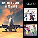 Hybrid-Nackenkissen von FLOWZOOM | Reise-Nackenkissen aufblasbar mit Memory-Foam| Nackenhörnchen aufblasber | Aufblasbares Nackenkissen für Flugzeug, Auto und Zug - Modell Duo grau - 4