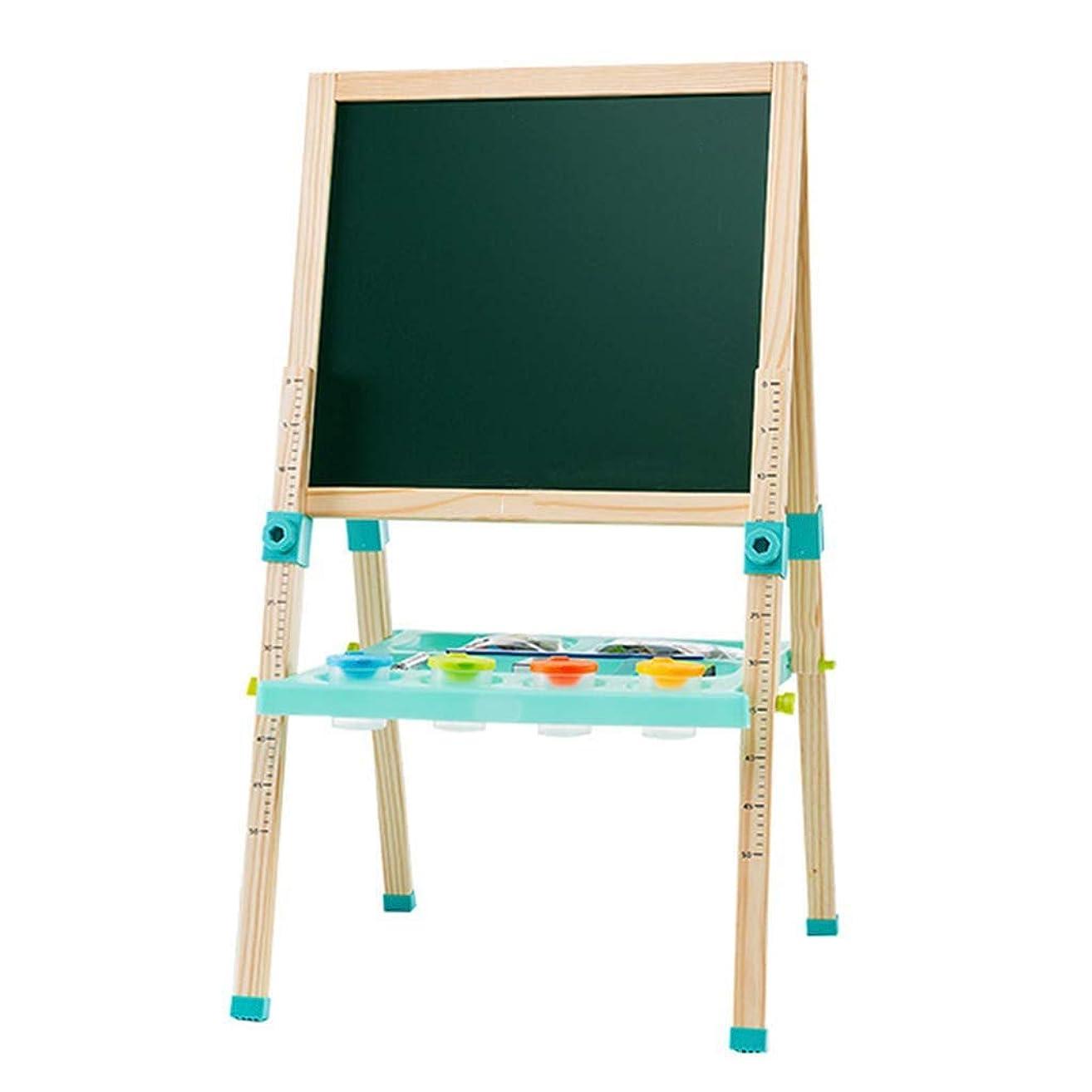 バラ色望みピアニストKJRJHJ 子供木製イーゼル調整可能な高さ磁気両面キッズアートイーゼルドライイーゼル製図ボード用2-8年幼児子供絵画