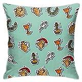 jonycm Couch Cushions Color Antiguo Roma Funda De Almohada Vacaciones 45X45Cm Funda De Almohada Sofá Doble Cara Hostal Cojines del Sofá Funda De Almohada De Impresión Suave Plaza Acogedor