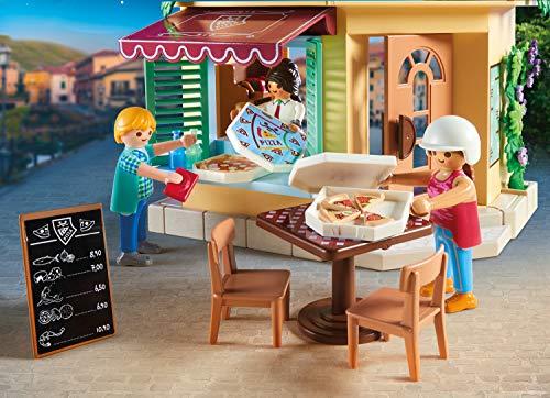 PLAYMOBIL City Life 70336 Pizzería con terraza, Con efectos de luz, A partir de 4 años