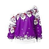 MORCHAN Mode Femmes Merry Christmas Flocon De Neige Imprimé Tops Col Bénitier Sweat...
