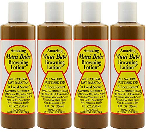 Maui Babe Browning Lotion 8 Ounces (Pack of 4)