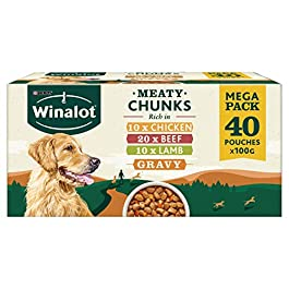 WINALOT Dog Food Pouches Mixed in Gravy 40 x 100 g