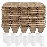 Orgánicas Bandejas Biodegradables para Plántulas, Speyang 10 Kit de Macetas de...