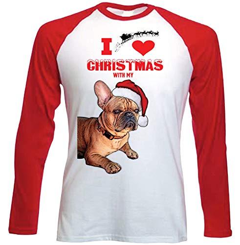 teesquare1st I Love Christmas with My French Bulldog Ginger Santa Camiseta DE...