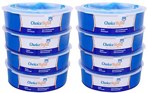 ChoiceRefill pour le Système de Poubelle à Couches Tommee Tippee Sangenic Tec. (8 paquets)