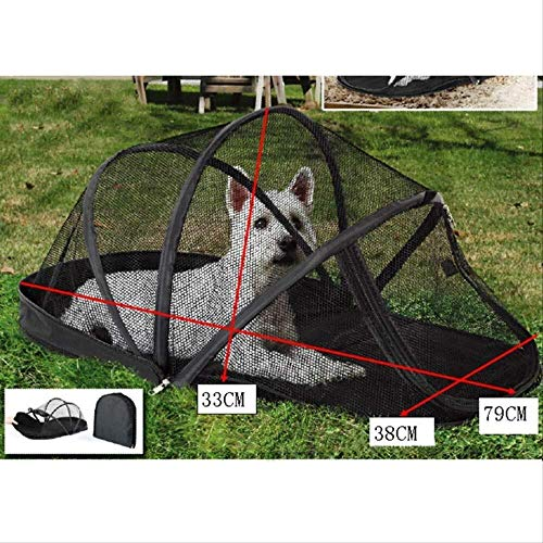 Warm huis huisdier auto account muggen net tent hond hek Teddy kat nest huis hondenhok kooi kleine middelgrote en grote hond winter vouwen eenvoudige tent 79 * 38 * 33cm leuk, M