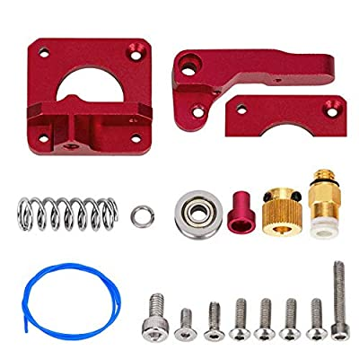 Right Hand Upgraded Version Ender 3 Extruder MK8 Extruder Upgrade Aluminum Drive Feed Replacement 3D Printer Extruders Kit for Ender 3 CR-10 CR-10S CR-10 S4 and CR-10S5
