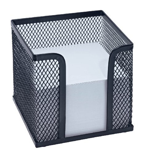 Wedo 65701 Zettelbox Office (inkl. Papier (92 x 92 mm), Drahtmetall) schwarz