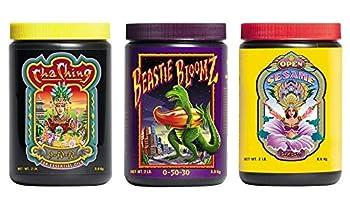 FoxFarm Trio Open Sesame Beastie Bloomz & Cha Ching Soluble Granular Fertilizer Fox Farm Tri-Pack  2 LB Jars